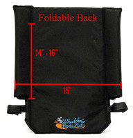 "QF347-  15"" FOLD OVER BACK - TALL.  QUICKIE STYLE,  ULTRA LIGHT NYLON."