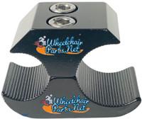 "WL150C-  1"" BLACK WHEEL LOCK CLAMP"