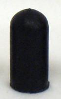RB202- BLACK ROUND WHEEL LOCK EXTENSION RUBBER TIP. E&J TYPE