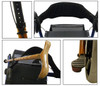 Unique features like Dual Locking safety latch, mesh bag for storage, large comfortable backrest & side cane holder.