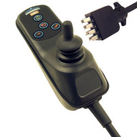Front view of a 4 Button VSI Joystick Module for SHOPRIDER, Part number (D50963)