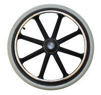 "20x1 3/8"", 8 Spoke Mag Wheel with Flush Hub for 7/16"" Axle. Pneumatic Street Tire"