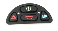 Front view of a 4 Button Keypad with light for a R-NET Joystick Module, Part number (P77292)