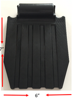 "FP202 BLACK PLASTIC FOOTPLATE FOR 7/8"" TUBING. SOLD AS EACH"