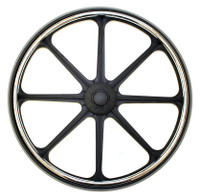 "22x1 3/8"" Mag Wheel for 1/2"" Axle with 2.4"" Flush Hub. Sold As Pair"