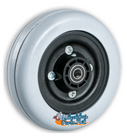 "CW236P - 6X2"" Invacare Type 2 Piece Wheel W/ Urethane Tire. 7/16"" Bearings. Sold As Pair"