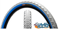 "T555 - KENDA KOBRA 25x2"" OFF ROAD TIRES GRAY/BLUE. SOLD AS PAIR"