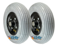 "CW202, 8 x 2""(200X50) Wheels Pneumatic Tire and Tube With 7/16"" Bearings  and 2 1/2"" Hub Width"