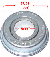 "B30 - 5/16"" X 29/32"" (.906) FLANGED BEARING Caster. Sold as Pack of 4"