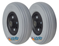 "CW244 8"" x 2.25"" Invacare Assembly W/ Solid Urethane Tire And 7/16"" Bearings."