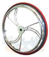 "RW710 Colours Billet Wheels 25 x 1"" ""SAWBLADE"" Sold As Pair"