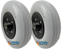 "CW191 8"" x 2"" Assembly With Solid Urethane Tire and 5/16"" Bearings"