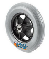 "CW221 8 x 2"" Jazzy rear wheel, one piece 8 spoke caster 2.375 Hub Width Molded-On Tire SOLD AS PAIR"
