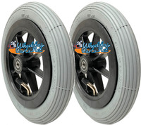 "CW172 8 x 1 1/4"" Wheel With Pneumatic Tire and Tube, 1 1/2"" Hub and 5/16"" Bearings. One Pair"