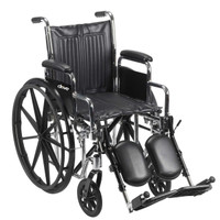 Drive Chrome Sport Wheelchair Dual Axle FREE SHIPPING