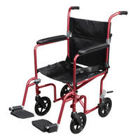 Drive Deluxe Fly-Weight Aluminum Transport Chair with Removable Casters FREE SHIPPING