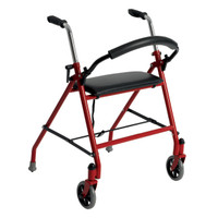 Drive Two Wheeled Walker with Seat. RED COLOR