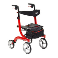 "Drive Nitro Aluminum Rollator, 10"" Casters Height Adjustable, FREE SHIPPING"
