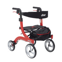 "Drive Nitro Aluminum Rollator, Hemi Height, 10"" Casters - FREE SHIPPING"