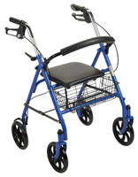 "Drive Durable 4 Wheel Rollator with 7.5"" Casters - FREE SHIPPING"