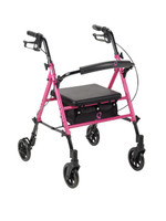 "Drive ACS Aluminum Rollator, 6"" Casters Fold-up FREE SHIPPING"