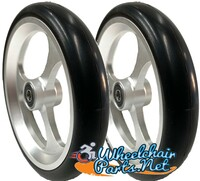 "CW507 6"" X 1"" Aluminum 3 Spoke wheel / Soft Urethane Tire with 5/16"" bearings. Sold as Pair"