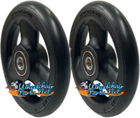 "CW513 4"" X 1"" Composite Wheel and Soft Urethane Tire with 5/16"" bearings. Sold as Pair"