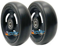 "CW514 4"" X 1 1/2"" Composite Wheel and Soft Urethane Tire with 5/16"" bearings. Sold as Pair"