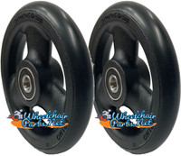 "CW515 5"" X 1"" Composite Wheel and Soft Urethane Tire with 5/16"" bearings. Sold as Pair"