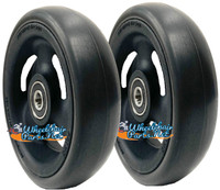 "CW516 5"" X 1 1/2"" Composite Wheel and Soft Urethane Tire with 5/16"" bearings. Sold as Pair"