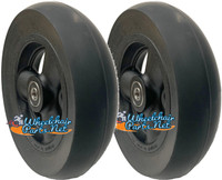 "CW518 6"" X 1 1/2"" Composite Wheel and Soft Urethane Tire with 5/16"" bearings. Sold as Pair"