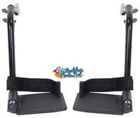 STDS3J24SF Drive Swing-Away Footrests - BLACK COLOR