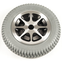 "14"" Gray Flat-Free Drive Wheel Assembly for Jazzy 1100, 1120, and 1122 Power Chairs. Sold as Each"