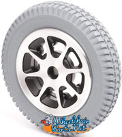 "14"" Gray Flat-Free Drive Wheel Assembly for Jazzy 1104. Sold as Each"