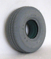 "F077 4.10 X 3.50-4 (11 x 4"") SAWTOOTH TIRE. Sold as eac"