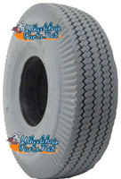 """F077 4.10 X 3.50-4 (11 x 4"""") SAWTOOTH TIRE. Sold as eac"""