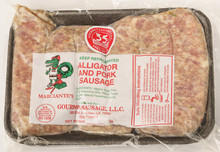 Flavorful mixture of pork, alligator and seasonings (frozen).