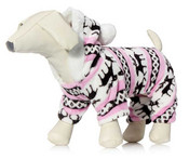 Pink Winter Fleece Dog Onesie