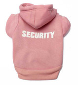Pink Security Dog Hoodie