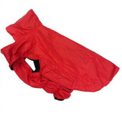 Large Red Dog Rain Coat