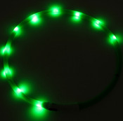 Green USB Rechargeable LED Dog Collar