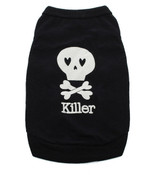 Black Killer Skull Dog Vest