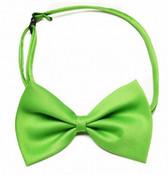 Green Shiny Dog Bow Tie