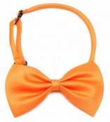 Orange Shiny Dog Bow Tie