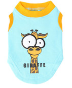 Blue Giraffe Cartoon Dog Vest