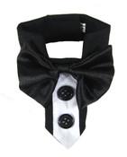 White Formal Bow Tie Dog Collar