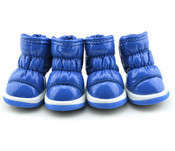 Blue Fleece Lined Dog Snow Boots