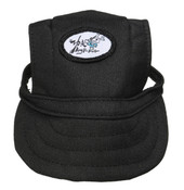 Black Visor Dog Baseball Cap