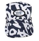 Blue and White Visor Dog Baseball Cap