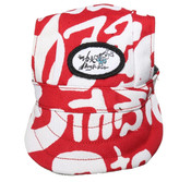 Red and White Visor Dog Baseball Cap